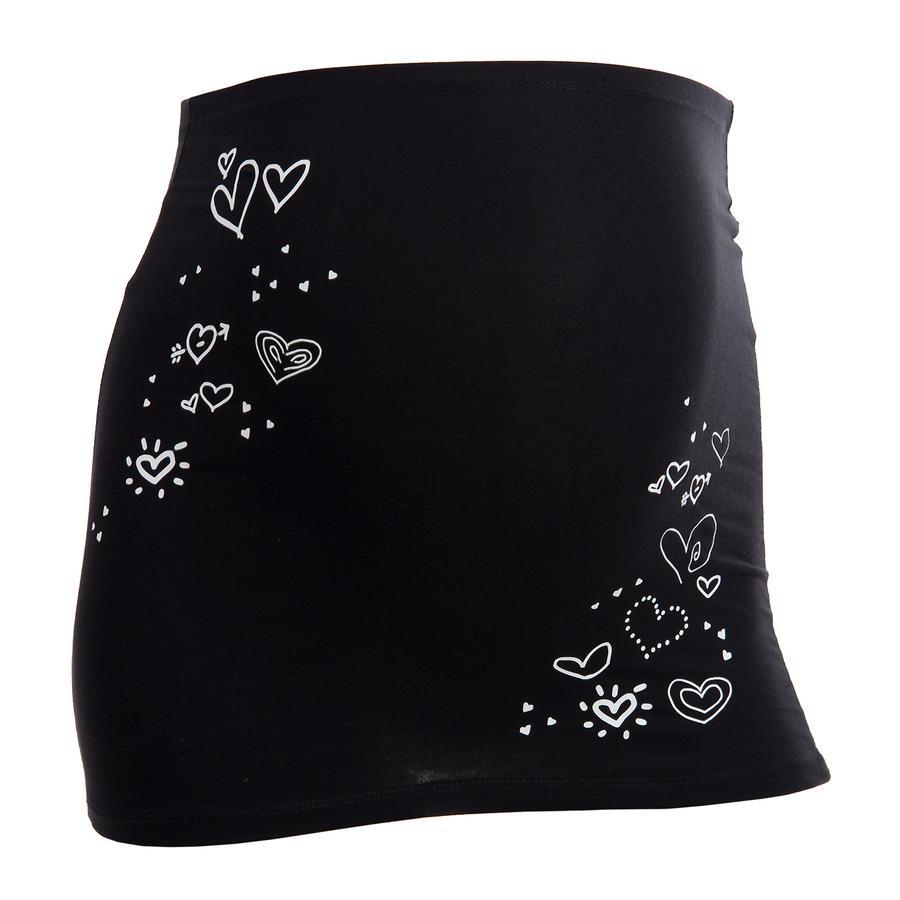 MAMABAND Pas podtrzymujący brzuch Serduszka kolor czarny
