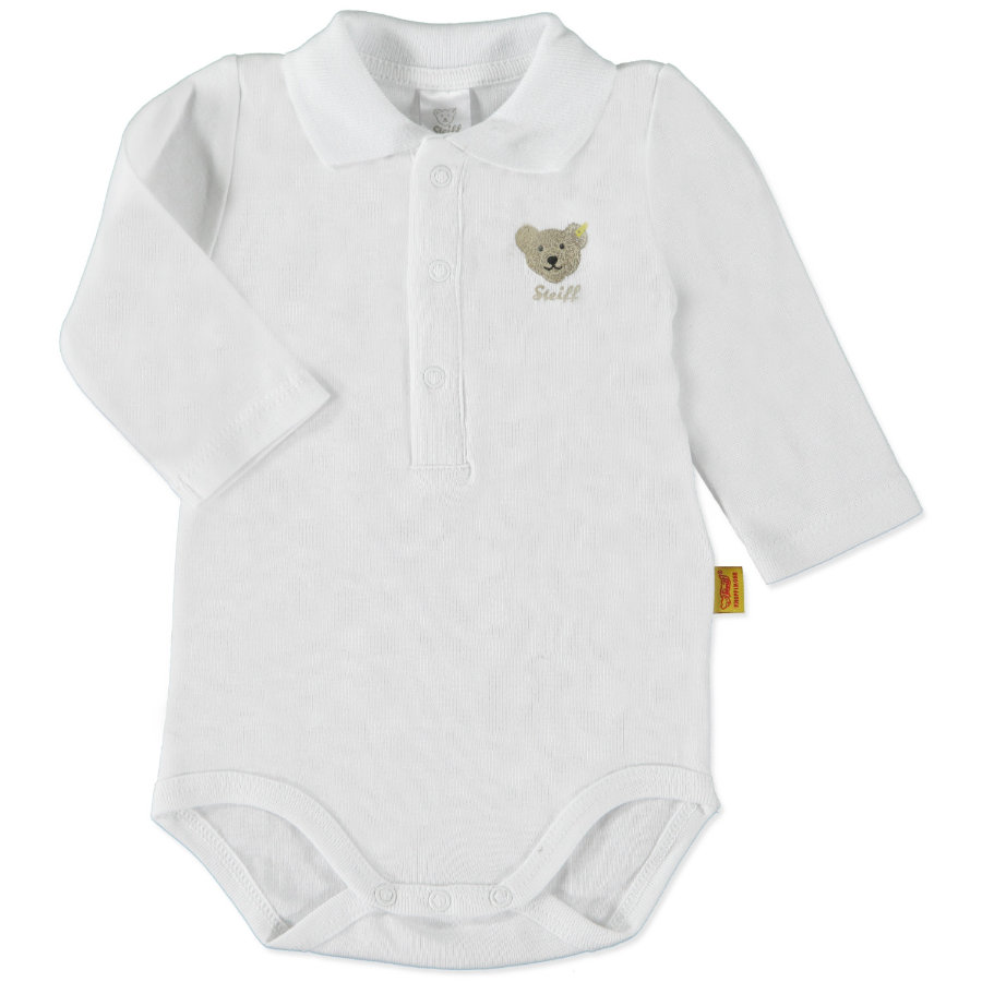 STEIFF Boys Baby Bodysuit 1/1 sleeve, bright white