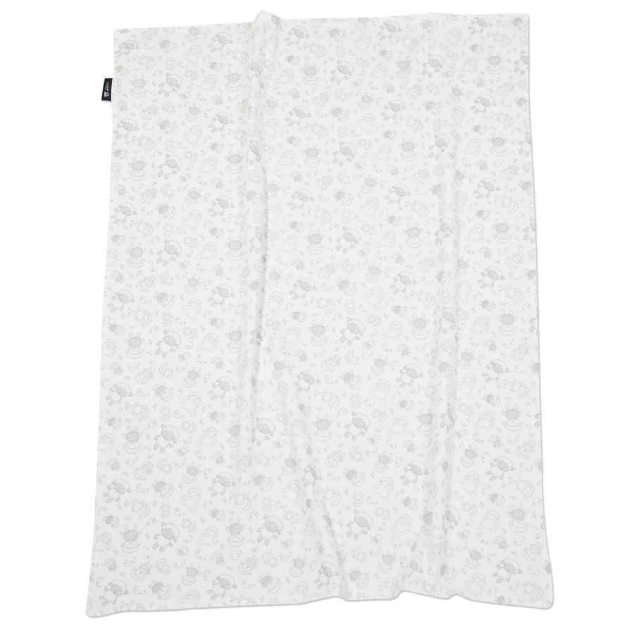 ALVI Kocyk dziecięcy Jersey Owieczki beige 75 x 100 cm
