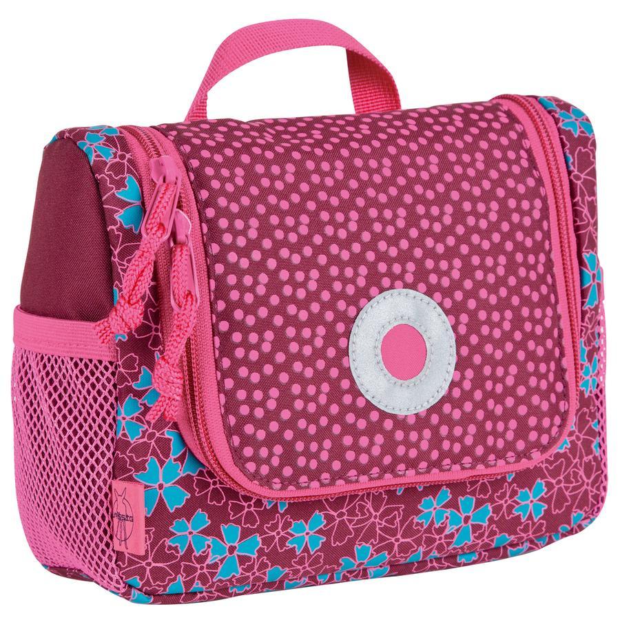 LÄSSIG Mini Washbag Kulturbeutel Blossy pink