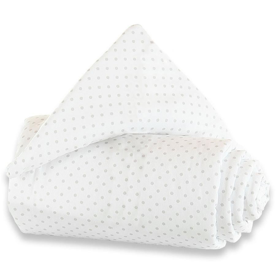 TOBI BABYBAY Ochraniacz do ścianki do łóżeczka dostawnego Trend Kropki kolor perłowoszary