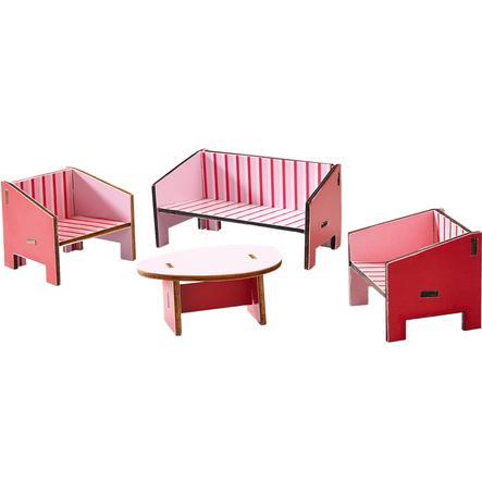 HABA Little Friends Akcesoria do domku dla lalek:  Duży pokój 300507
