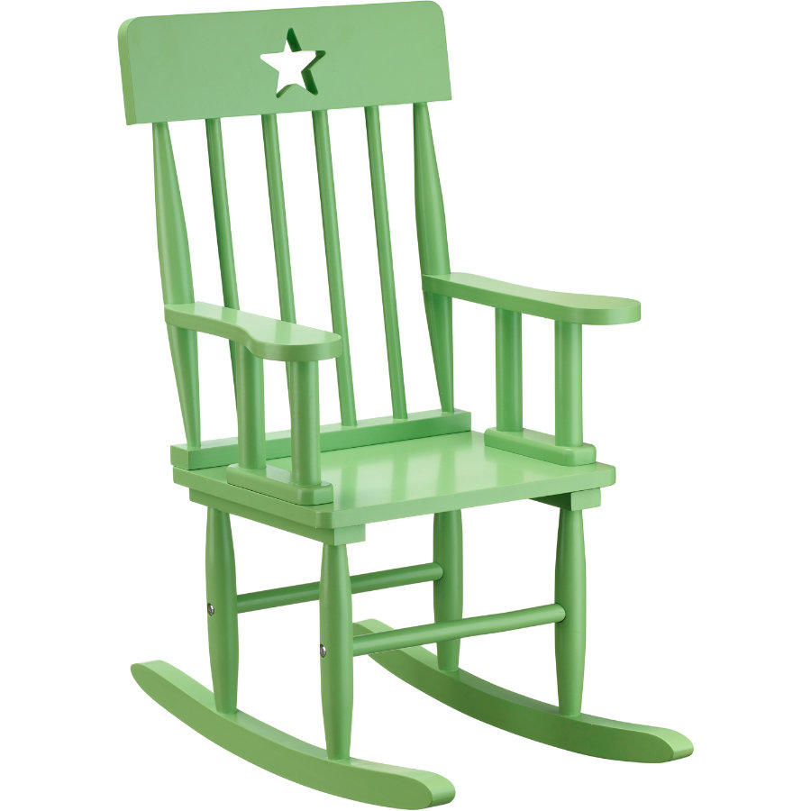 KIDS CONCEPT Rocking Chair Star, green