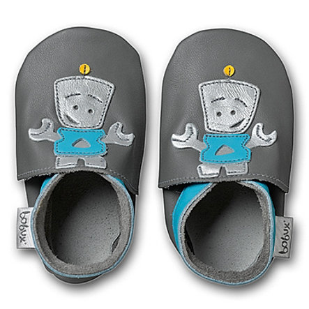 BOBUX Boys Baby Shoes ROBOT grey