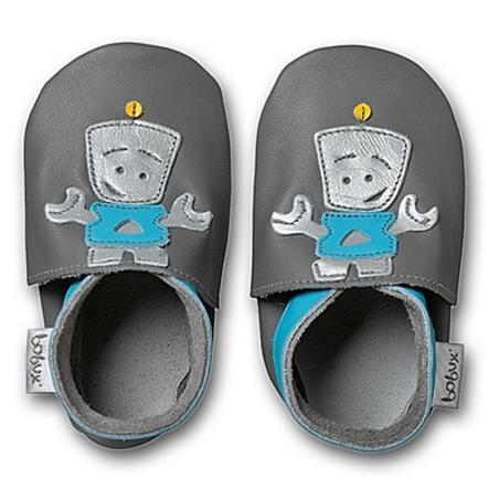 BOBUX Boys Zapatos de suela blanda ROBOT grey