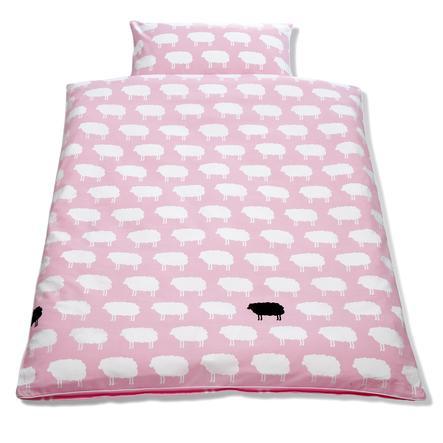 Pinolino Lasten sänky- ja tyynyliina 2-osainen Happy Sheep pinkki