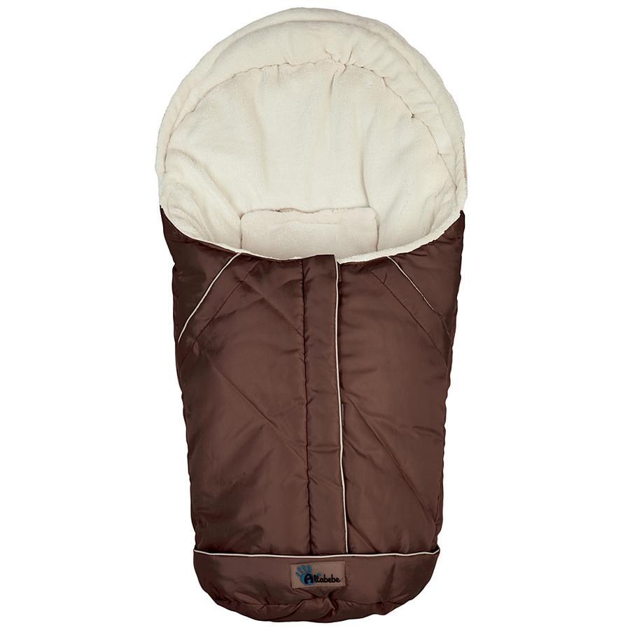 Altabebe Vinter Fotpose Nordic for babybilstol 0+ brun-hvitvask