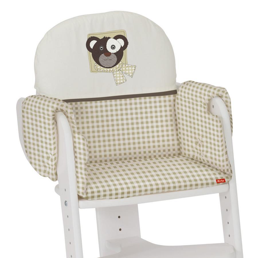 "HERLAG Seat Pad Tipp Topp IV ""Owl"" Beige/Vichy"