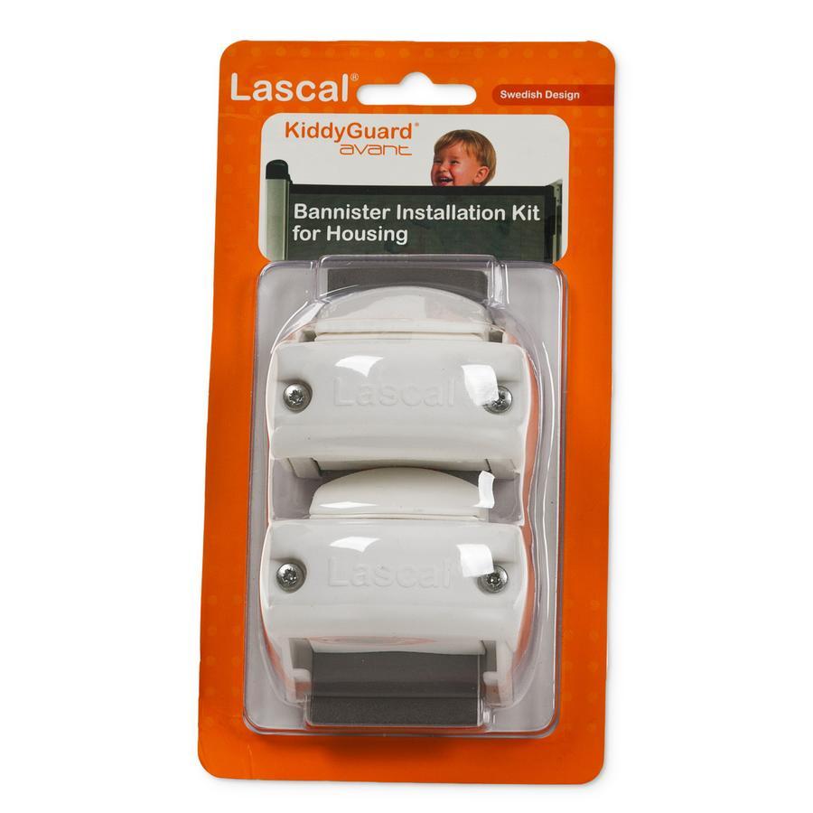 LASCAL Kiddy Guard avant Rohrhalterungs-Set weiß für Rollseite