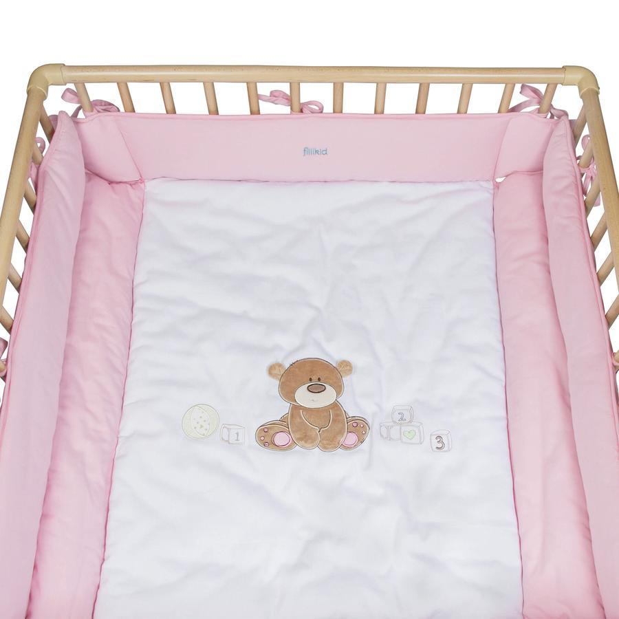 FILLIKID Výplň do ohrádky - medvídek, světle růžová 75 x 100 cm a 100 x 100 cm