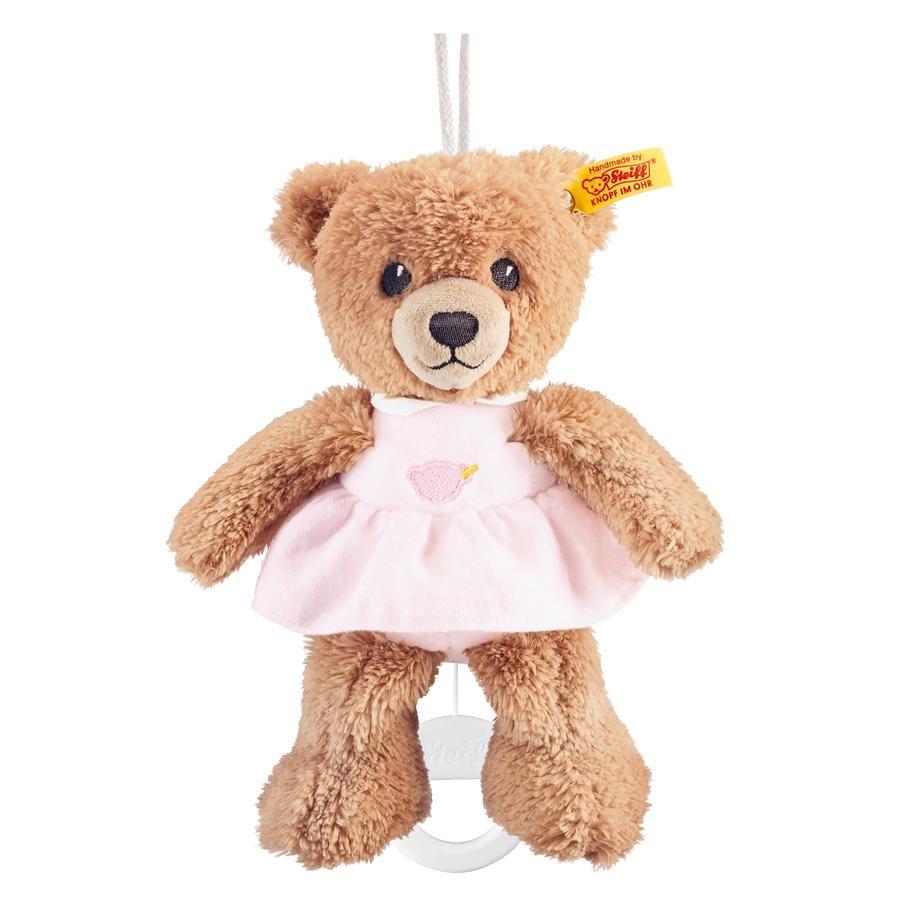 STEIFF Hrací hračka - medvídek, růžový