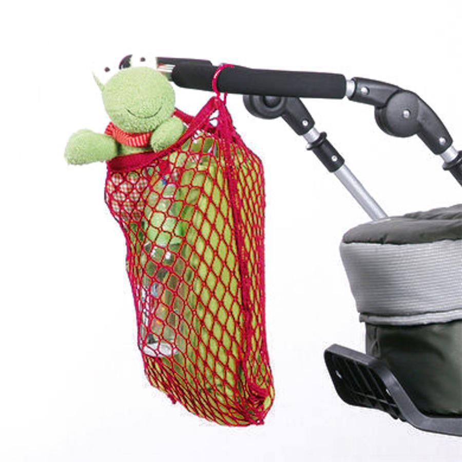 HARMATEX Kinderwagen Universal-Einkaufsnetz mit Klettverschlussrot (04)