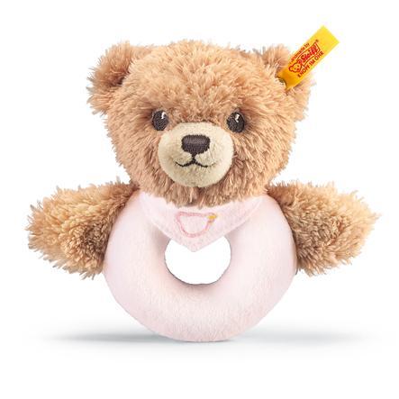 STEIFF Medvídek - chrastítko - ružové