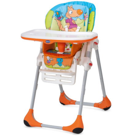 CHICCO Highchair Polly 2 in 1 WOOD FRIENDS 2013 collection