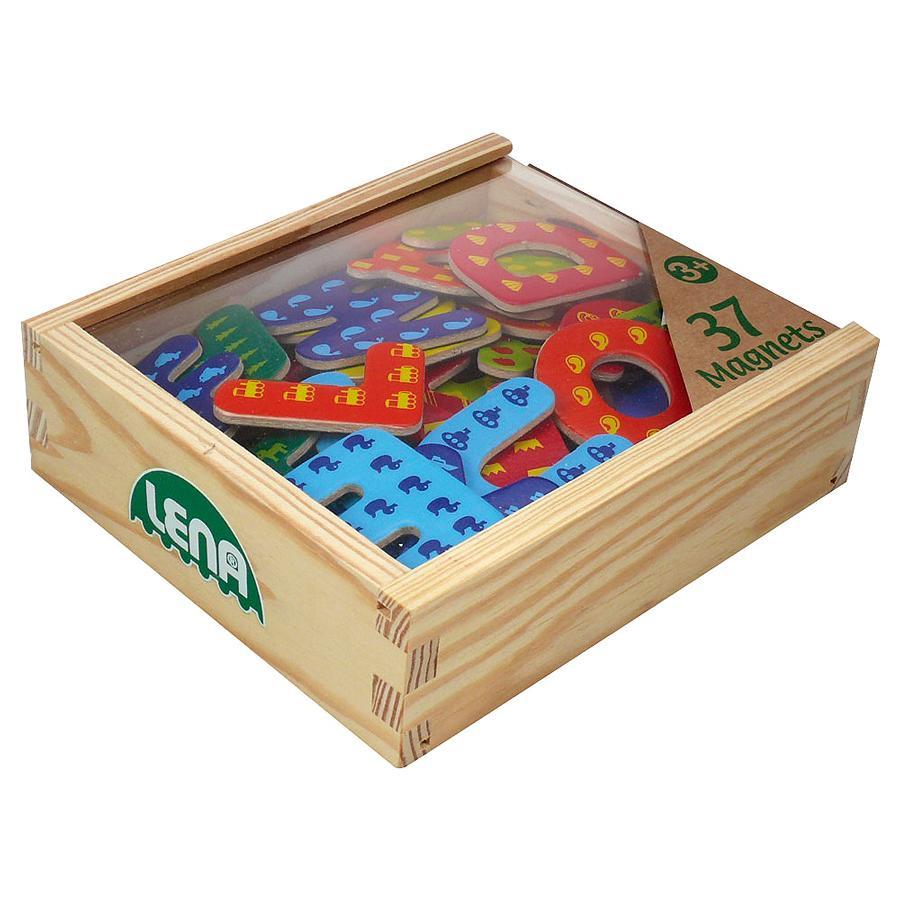 LENA® Lettres magnétiques enfant bois 65823