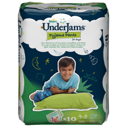 Pampers UnderJams Pyjama Pants Boy - Größe S/M (17-29 kg)