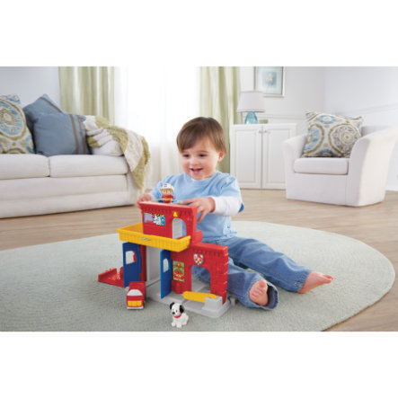FISHER PRICE Little People Wheelies - Caserne de pompiers