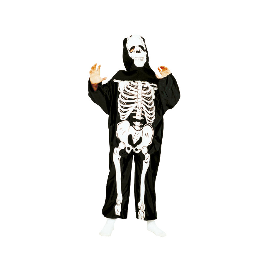 FUNNY FASHION Carnival Costume Skeleton