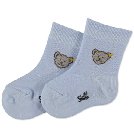 STEIFF Boys Mini Socks Teddy light blue
