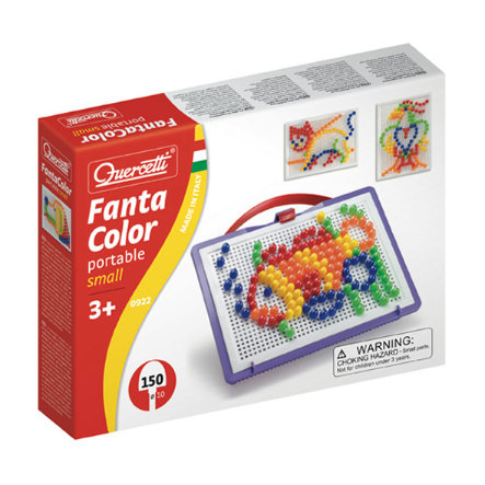 BELUGA Quercetti - Jeu à enficher Fanta Color Portable Small 150