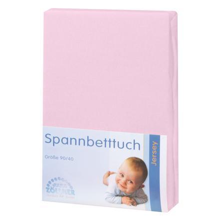 JULIUS ZÖLLNER Spannbetttuch Jersey für Wiege rosa