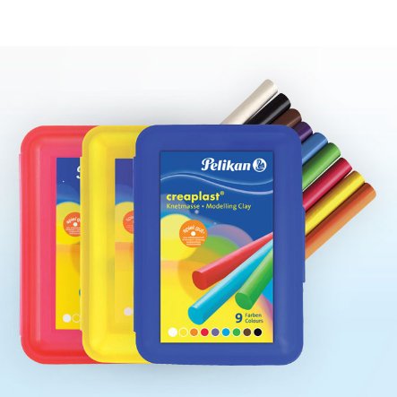 PELIKAN Plastelina Creaplast®, pudełko w kolorze niebieskim