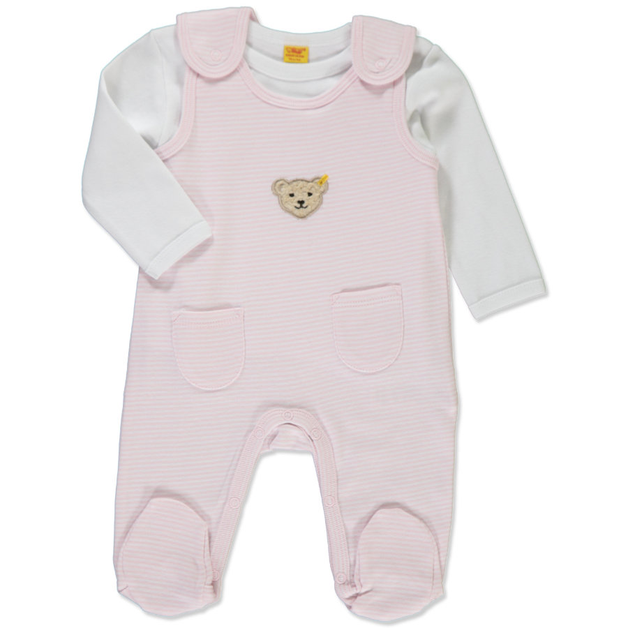 STEIFF Girls Baby Strampler Set 2-tlg. barely pink