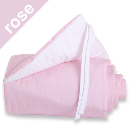 TOBI BABYBAY Paracolpi per lettino co-sleeping Midi / Mini rosa bianco