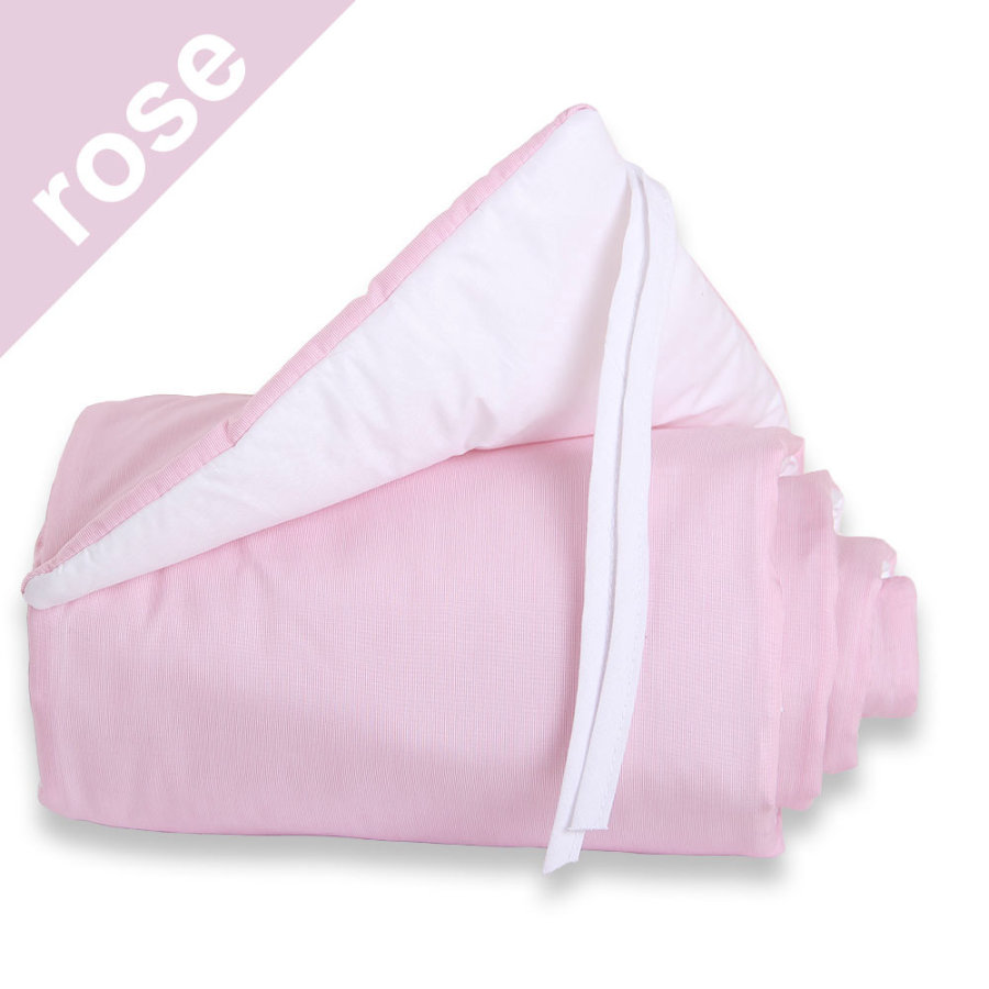 Babybay Midi/Mini Reunapehmuste, vaaleanpunainen/valkoinen