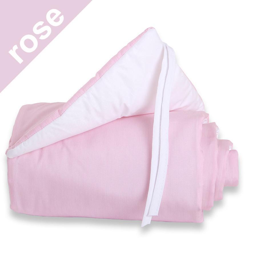 babybay Spjälsängsskydd Midi / Mini rosa/vit