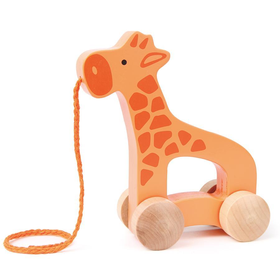 HAPE Trække-legetøj - giraf