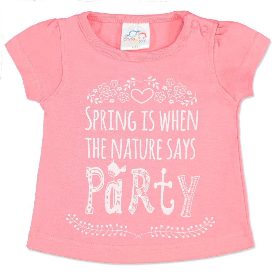 anna & tom Mini Girls Shirts Party rosa