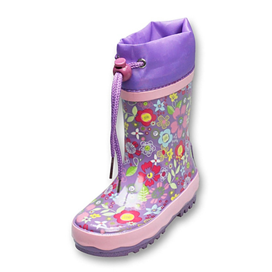 PLAYSHOES Girls Rubber Boots Flora lilac