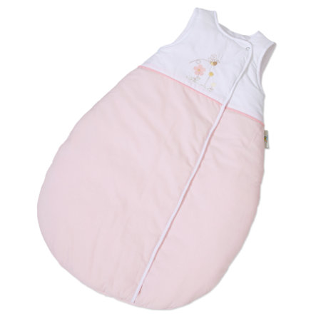 EASY BABY Gigoteuse molletonnée 90 cm Honey bear rose (451-42)
