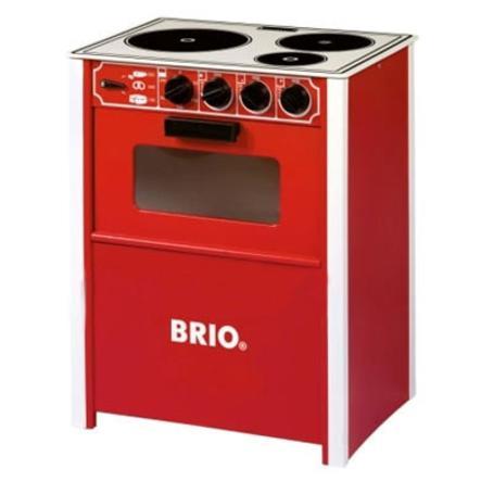 Hypermoderne BRIO komfur i rød, legekøkken - pinkorblue.dk BM-27