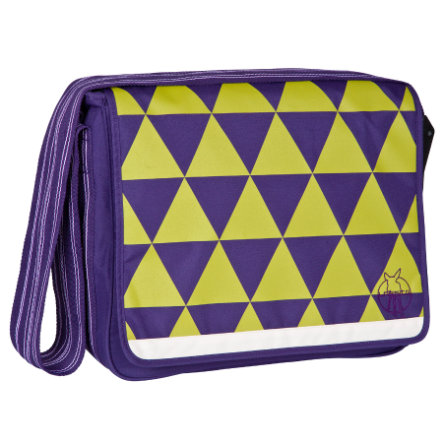 LÄSSIG Wickeltasche Casual Messenger Bag dark purple