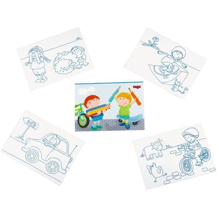 HABA Omalovávací pohlednice - Tim ve městě 300156