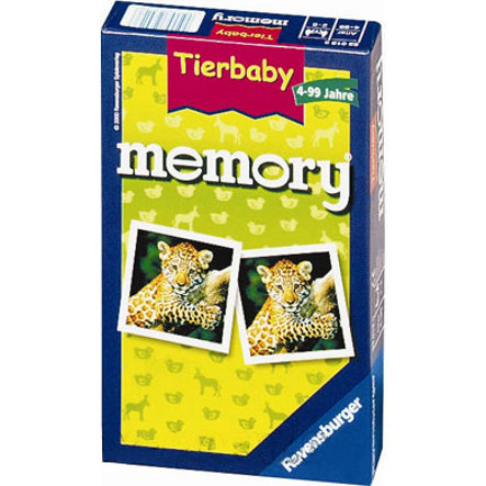 RAVENSBURGER Resespel - Djurbaby Memory
