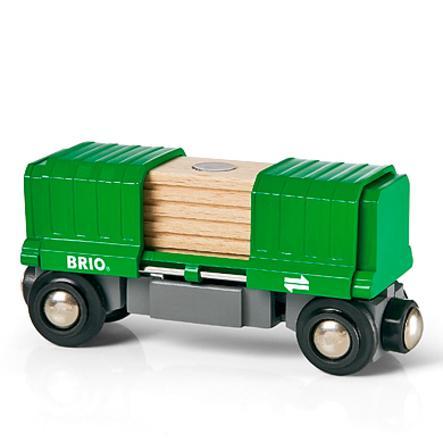 BRIO® WORLD Güterwagen mit Ladung