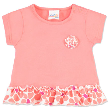 anna & tom Girls Shirt Flamingo rosa, Rüschen