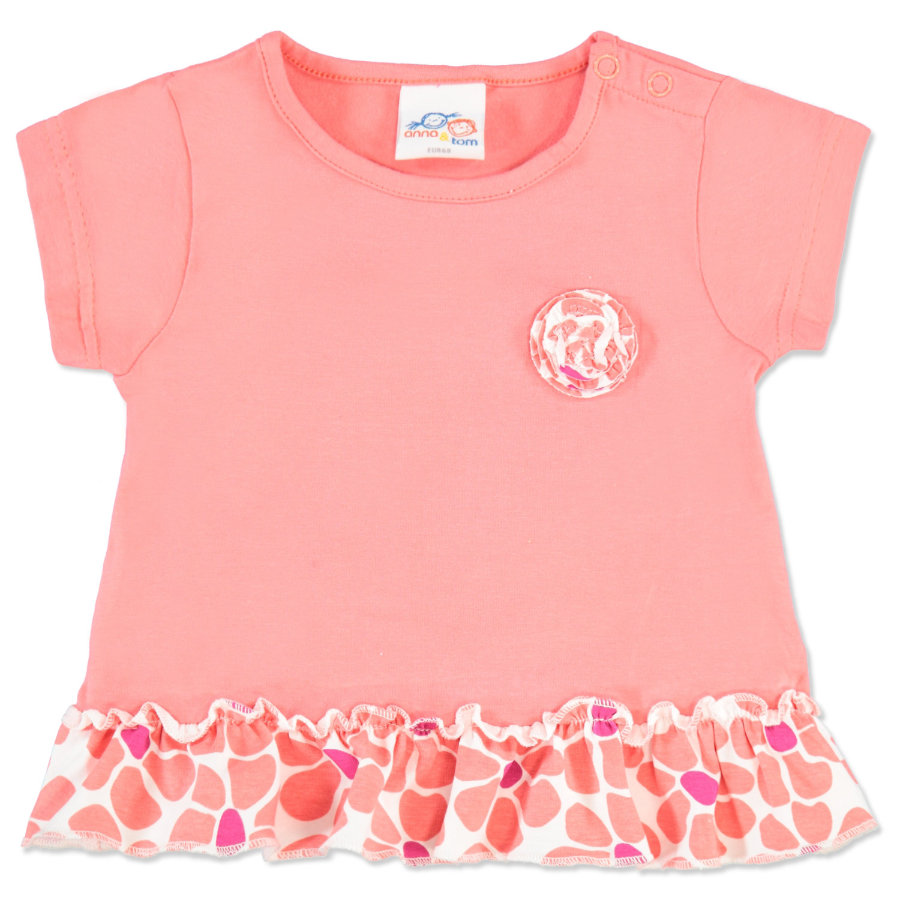 anna & tom Girls T-shirt Flamingo rose, froufrous