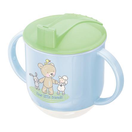 Rotho Babydesign Stehauf Tasse Beste Freunde babybleu lindgrün/weiß