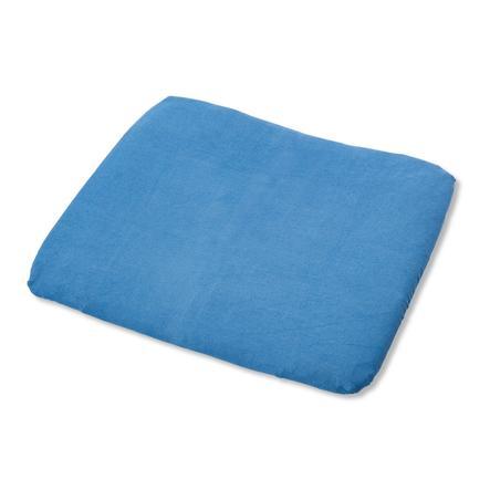 PINOLINO Frottee Bezug für Wickelauflagen blau