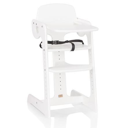 HERLAG Krzesełko do karmienia Tipp Topp IV drewno bukowe kolor biały