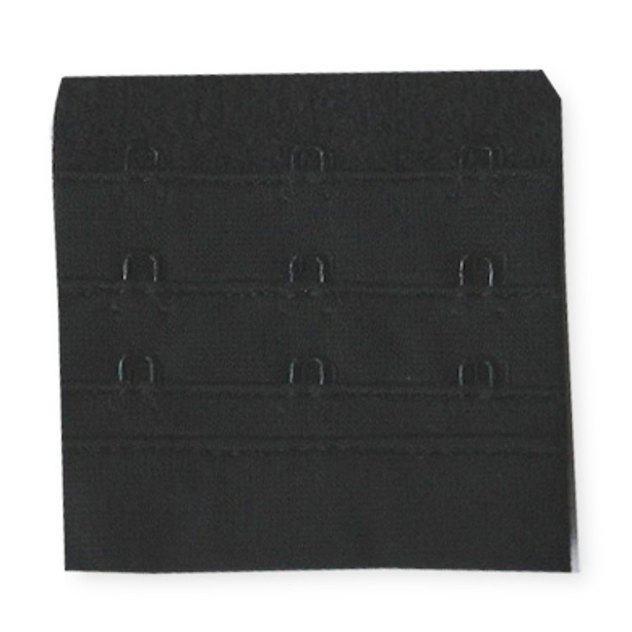 NATURANA Rajout fermeture soutien-gorge, noir, 6,5 cm