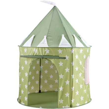 KIDS CONCEPT Play Tent Star, light green