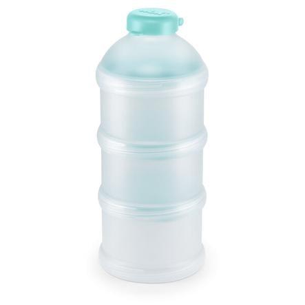 NUK Racionador para leche en polvo, 3 unidades, sin BPA, color verde azulado