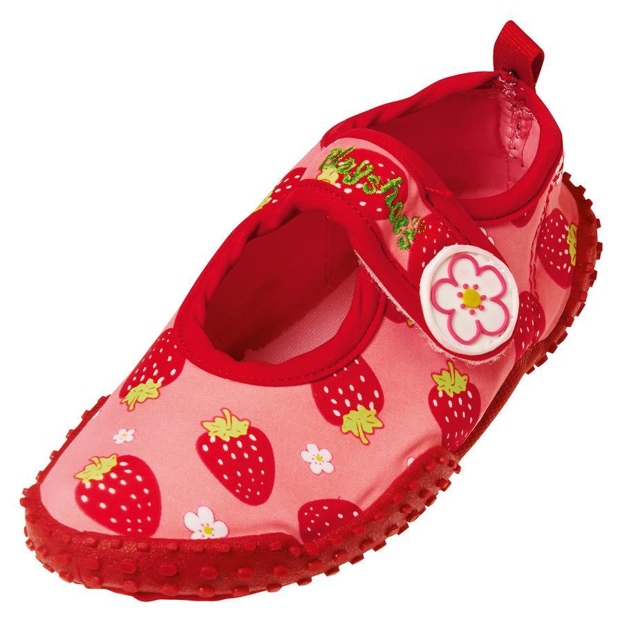 PLAYSHOES Sandales de bain enfant, protection UV, fille, Fraise, rouge