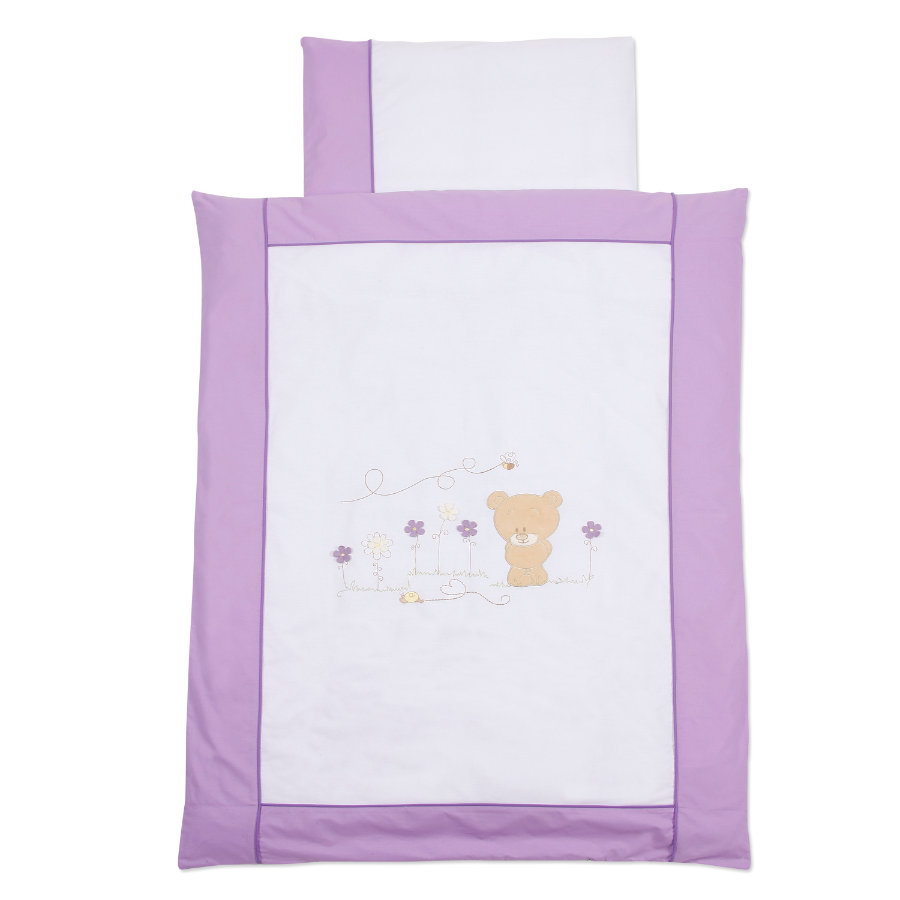 Easy Baby Bäddset 80x80 cm Honey bear lila (410-40)