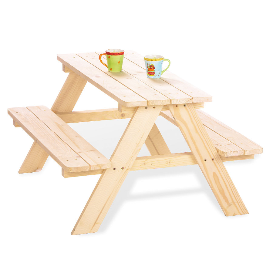 PINILINO Benches with Table Nicki for 4